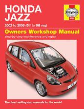 4735 Haynes Honda Jazz (2002 - 2008) 51 al 08 Manuale di Officina