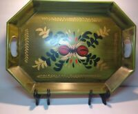 Tole Metal Large Vintage Serving Tray Display Hand Painted