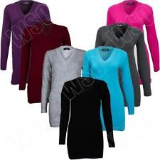 Medium Knit Acrylic Solid Jumpers & Cardigans for Women