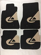 Custom Logo Car Floor Mats For Lexus Gs/300/400/430 98/05 Dark Grey Black/ Beige