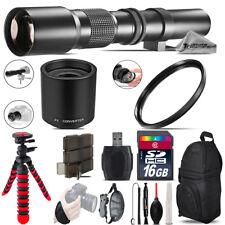 500mm/1000mm Telephoto Lens for 5D Mark IV + Flexible Tripod & More - 16GB Kit