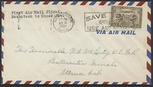 1930 AAMC #3017e Prairie Route Change, Apr 15 Saskatoon to Moose Jaw Flight