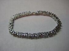 Tennis Bracelet 7.50ctw Genuine Pink & White Topaz in 14k White Gold Filled