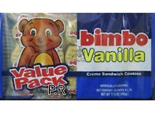 Bimbo Vanilla Cream Sandwich Cookies Galletas Candy Sweets (1) pack