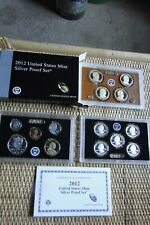 2012-S United States Mint Silver Proof Set, 14 Coin - Original Box with COA
