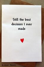 Funny Greetings Card/ Birthday/ Anniversary/ Humour / Love /Cute - Best Decision