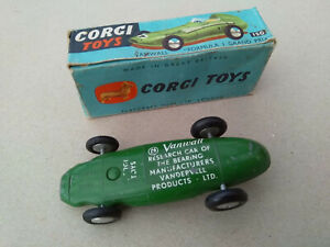 VERY RARE early Vandervell promotional Corgi Toys ORIGINAL no.150 Vanwall boxed