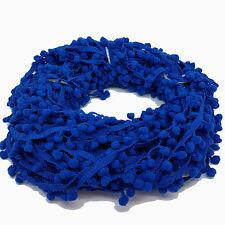 22 Metres Royal Blue 10mm Pom Pom Colourful Bobble Trim Fringe Ribbon £12.99