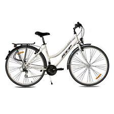 "28"" Zoll City Bike Cityrad Trekkingrad Alu Damenrad KCP Ara 21g Shimano WEISS"