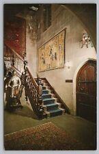 Des Moines IA~Salisbury House~Stairway & Suit Of Armor~Carl Weeks~Vintage PC
