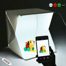 Light Room Photo Studio Photography Lighting Kit LED Portable Cube Box Backdrop