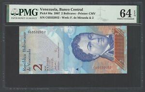 Venezuela 2 Bolivares 2007 P88a Uncirculated Grade 64