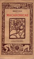 Macaronicae- MERLIN COCAI, 1925  Formiggini - ST475
