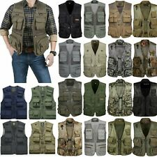 Men Multi-Pocket Fishing Hiking Vest Photography Jacket Outdoor Waistcoat Gilet