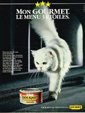 PUBLICITE ADVERTISING 035  1984  LE GOURMET  aliment pour chat