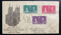 1937 St John Newfoundland First Day Cover FDC King George 6 Coronation KGVI