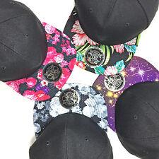 Blank Snapback Cap 2Tone Toxic Baseball Kappe Skate 2 farbig Blumen Hip Hop