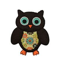 Owl Patch - Flower Pattern - Iron on