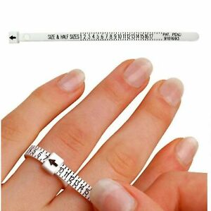 USA Ring Sizer Measure Tool Gauge Plastic Finger Sizing Finder Reusable US 1-17