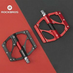 "ROCKBROS Mountain Bike PedalsAluminum 9/16"" Sealed Bearing Metal MTN Bike Pedals"