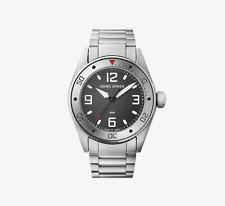 GEORG JENSEN Mens Delta Dive Quartz Watch Grey Dial /Steel # 398, David Chu. NEW