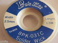Solder Wick Desolder Braid Mop Sucker Solder remover 1.5mm to 2.5mm Roll 812 813