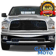 09-12 Dodge RAM 1500 Front Hood Big Horn Black Replacement Grille+Chrome Shell
