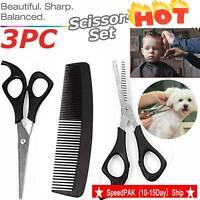 3Pcs Professional Salon Hairdressing Hair Thinning Cutting Barber Scissors Set