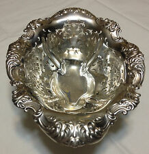 Alvin Sterling Silver Reticulated and Pierced Footed Bowl