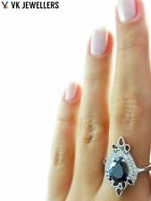 Fashion Women Jewelry Onyx 925 Sterling Silver Engagement Ring Size 8 R2939