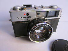 Olympus 35 DC Rangefinder Camera 40mm 1.7 Zuiko lens & Front Cap. For Parts.