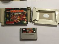 DONKEY KONG COUNTRY 1 SUPER NINTENDO ENTERTAINMENT SYSTEM SNES GAME BOXED PAL