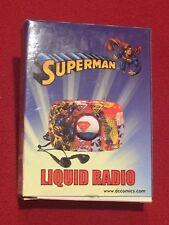 Superman Liquid Radio with Earbuds DC Comics WB NEW MIB