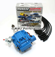 SBF Ford 289 302 HEI Ignition Blue Cap Distributor & Moroso Race Wires 135*