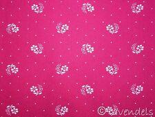 Dirndlstoff ♥ pupurrot Blümchen + Punkte Baumwolle Trachten ♥ Schürzenstoff pink
