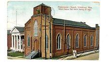 Vicksburg MS - PRESBYTERIAN CHURCH - Postcard Mississippi