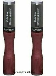 Lot of 2 New and Sealed Revlon ColorStay Lipglaze Mineral Perpetual Plum 550