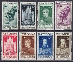 """Vaticano 1936 """"Stampa Cattolica"""" n. 47-54 nuova MNH** g. integra centrata E.D."""
