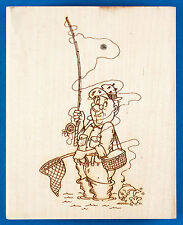 Fly Fishing Rubber Stamp by Diamonds - Fish Getting Away, Funny Fisherman Fail