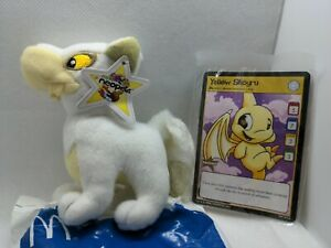 Nwt new 2004 McDonald's Neopets Blue white Lupe Mini Plush Toy + Shoyru card