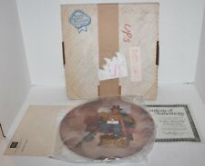 Knowles Norman Rockwell Scotty's Stowaway-1st Edition- Collectible Plate-Coa-Mib