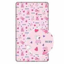 Peppa Pig Coeurs Drap Simple 100% Coton Rose Enfants