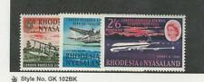 Rhodesia & Nyasaland, Postage Stamp, #180-182 Mint NH, 1962 Airplane