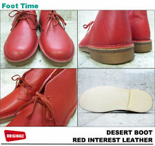 Clarks Originals ** X DESERT BOOTS ** RED INTEREST, HORWEEN ** UK 13 / 12.5
