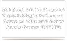 Playmat Tappetino circa 35x60 Bianco White adatto YUGIOH MAGIC POKEMON custom
