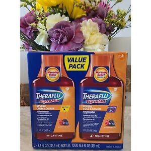 ✅Valuepack Theraflu Expressmax Severe Cold/Cough Day🌞& Night🌛/Berry /8.3 OZ
