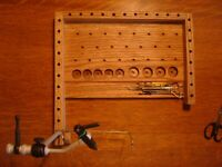 Fly tying bench,Right hander's tying station,Fly tool caddy,fly fisherman gift.