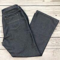 Venezia Womens SZ 16 Jeans Blue Silver Shiny Wide Flare Leg High-Rise 5-Pocket