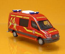 Herpa 093491 Mercedes Benz Sprinter Hochdach Feuerwehr Wilsdruff Scale 1 87 NEU