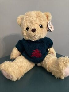 "Vintage 1998 Cherished Teddies ""John"" Wearing Christmas Sweater Plush Bear"
